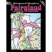 Fairyland Stained Glass Coloring Book by Richard Doyle
