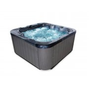 Whirlpool Outdoor Whirlpool Hot Tub Spa Zeus schwarz mit 44 Massage Düsen + Heizung + O...