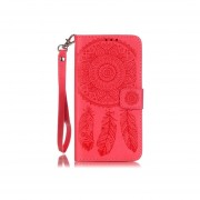 for Samsung Galaxy Grand Prime G530 Wallet Case Cover Dream Catch Printing Leather Stand Wallet Flip Cover Red