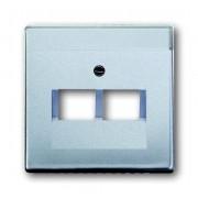 Future Alu Zilver Centraalplaat voor Datacontactdoos 2-voudig Busch Jaeger 1803-02-83 (1710-0-3610)