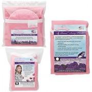 NuAngel Flip and Go Nursing Pad Case with Nursing Blanket and Contoured Burp Pad Set Pink