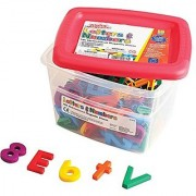 Educational Insights Multicolored Alphamagnets and Mathmagnets 126 Pieces