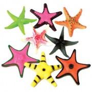 Dozen Plastic Multicolor Starfish Assortment