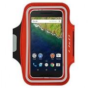 Nexus 6P Armband J&D Sports Armband for Google Nexus 6P Key holder Slot Perfect Earphone Connection while Workout Run