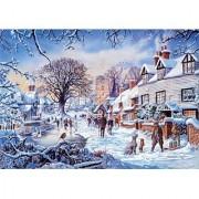Steve Crisp A Village in Winter 1500 Piece Puzzle