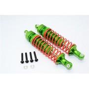 Axial Yeti Upgrade Parts Aluminium Front Adjustable Spring Damper (95mm) - 1Pr Set Green