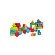 Mega Bloks - Tren aprendizaje first builders, juego de construcción (Mattel DKX60)