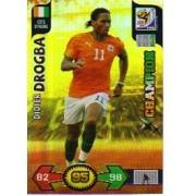 World Cup 2010 XL Adrenalyn CHAMPIONS Card Didier Drogba [Toy]