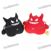 Devil Mini Toy figura con ventosas - Negro + Rojo (Par)