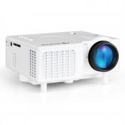 Auna Mini proiector LED VGA AV alb