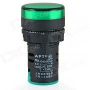 AD16-22D / S 22mm LED de senal Indicador de luz de lampara - Verde + Negro
