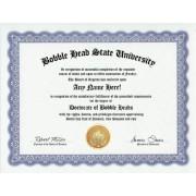 Bobblehead Bobble Heads Degree: Custom Gag Diploma Bobble Head Doctorate Certificate (Funny Customiz