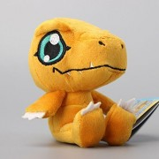Digimon Adventure Agumon Soft Plush Figure Toy Anime Stuffed Animal 4 Inch Child Gift Doll by prozapoti