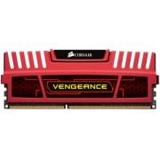 Памет Corsair DDR3, 2133MHz 8GB 2x240 Dimm, Unbuffered, 11-11-11-27, Vengeance Red Heatspreader,BlackPCB, 1.5V