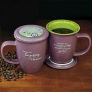 Inspiring Woman Mug and Coaster Set