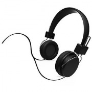 iHip IP-DJZ16-BK DJ Style Moveable Round DJZ Color Series Headphone Black