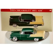 2001 High Speed / Readers Digest Inc 1955 Chevrolet Bel Air 1:64 Die Cast & Plastic Green & Cream In Color Highly Detailed White Wall Tires Out Of Production New Mint Collectible