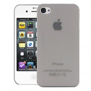 Quicksand Air skin Super Thin Matte Finish Anti Slip Back Case Cover for Apple iPhone 4S Grey