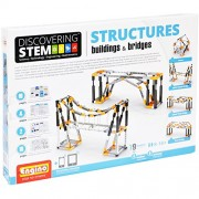 Engino Discovering Stem Structures Buildings and Bridges Building Kit, Multi Color