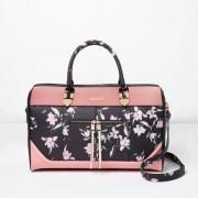 River Island Womens Black floral print zip front weekend bag