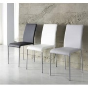 items-france COLUMBUS - Chaise similicuir 47x55.5x85.5cm