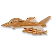 3-D Wooden Puzzle - Plane Model Euro Fighter Typhoon -Affordable Gift For Your Little One Item Dchi-Wpz-P098
