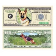 Set Of 25 German Shepherd Dog Million Dollar Bill