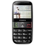 "Emporia Euphoria Móvil libre (pantalla de 2.3"", radio FM, despertador, calendario, Bluetooth 3.0, cámara de 2 MP), negro"