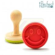 Perfect Home 12555 Sütipecsét 7,5 cm Smiley mintás
