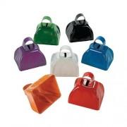 Assorted School Color Cowbells (1 dozen) - Bulk