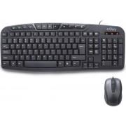Kit Tastatura si Mouse Multimedia nJoy CM120WR (Negru/Gri)
