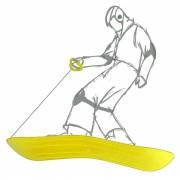 Slee geel 69 x 20 x 4 cm