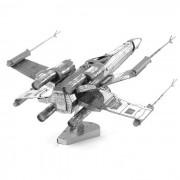 DIY Rompecabezas X-Ala de aviones modelo montado juguete educativo - plata