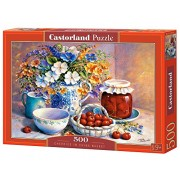 Cherries in China Basket, 500 Piece Jigsaw Puzzle By Castorland Puzzles