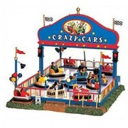 Lemax 64488 Crazy Cars Carnival Ride Amusement Park Christmas Village