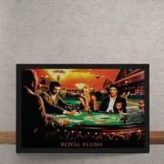 Quadro Decorativo Poker Royal Flush Marylin Monroe Elvis Presley James Dean Humphrey Bogart 25x35