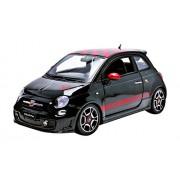 Bburago - 12078BK - Fiat 500 Abarth - 2008 - Echelle 1/18 - Noir/Blanc