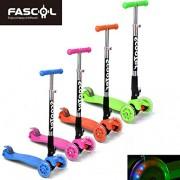 FASCOL® Twist & Roll Patinete plegable para niños con 3 ruedas,mini micro patinetes freestyle scooter in Verde