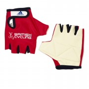 adidas British Cycling Team Race Gloves 2015 - Red - L