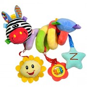 MagiDeal Cute Spiral Activity Stroller Car Seat Cot Lathe Hanging Bell Baby Play Travel Toys Newborn Baby Rattles Infant Soft Plush Toys Red Mouth Deer