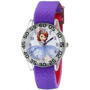 Disney Kids' W001958 Sofia Analog Display Analog Quartz Purple Watch
