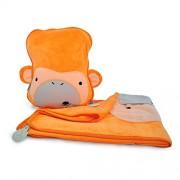 Trunki SnooziHedz Travel Pillow and Blanket - Mylo the Monkey (Orange)