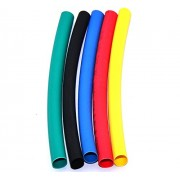 MA High Quality 6mm in 1 Mtr. Black Red Green Yellow Blue Polyolefin Assortment Ratio 2:1 Heat Shrink Tubing Tube Sleeving For Wrap