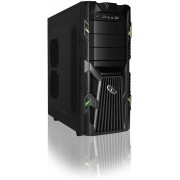 ATX gaming PC kast, midi-tower, groen