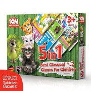 Talking Tom and Friends Tabletop Games 5?in?1, Classic Board Game, team (1-16 players), Ludo, Snakes and Ladders, Royal Game of the Goose, Race and Pachisi