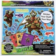 Teenage Mutant Ninja Turtles Giant Stick Anywhere Stickers-Durable and water resistant; Stick and remove them from any