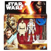 B3958 Figurine Hasbro Star Wars Episode 3 Obi Wan Kenobi & Clone Commander Cody