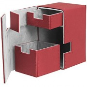 Flip N Tray Xenoskin Deck Case 100/120 Card Red