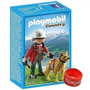 Playmobil 5431 Mountain Rescuer with Search Dog and Dimple Ring