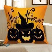 rosegal Halloween Pumpkin Skulls Pattern Square Pillow Case